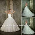 jt0141 querida frisada celtic vestidos de noiva