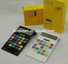 10 digit desk top colorful keys calculators for office gifts