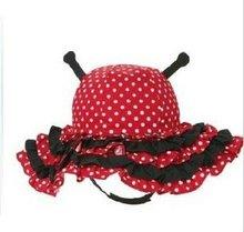 2012 New design baby girls red dot cute ladybug design hats ,caps