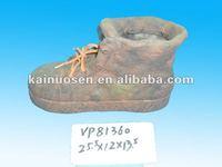 garden shoe shape white clay pot terracotta