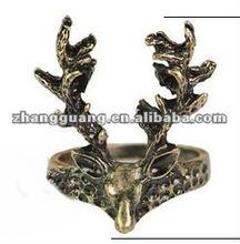 2012 fashion skull deer finger alloy gold ring