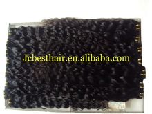 20 inch Malaysian Curly Hair Weft for Black Women