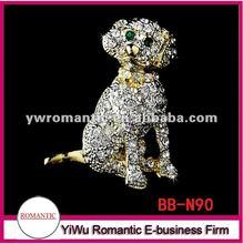 2012 cute rhinestone dog brooches