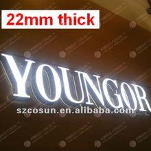 22mm thick super thin super bright Sign