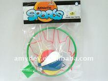 5 inch basketball + basketball ring