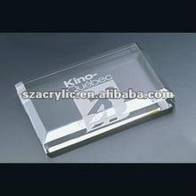 Solid acryl brand logo block