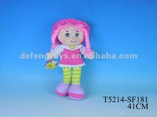 Pulgadas 14 muñecos de trapo para los bebés, muñeca de trapo de vestuario, muñecas de trapo negro