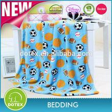 Soft Polyester Printed Coral Fleece Baby Blanket Comforter