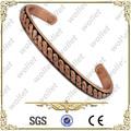 nuovo design mens ingrosso bracciali braccialetti di rame magnetico