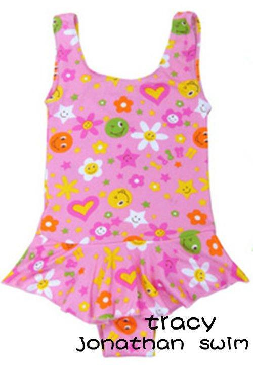 baby girls lovely printed swimwear with nylon/spandex fabric