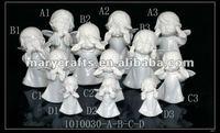 Unpainted resin figurine