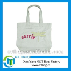 White color tote bag shopping bag cotton promotional bag