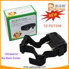 Dog bark control TZ-PET208 Bark stop collar +Advanced ultrasonic&static bark control collar