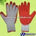 crinkle latex double palme rouge gants de travail enduit