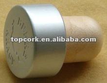plated aluminium cap bottle stopper TBE19.4-30-21-15matte silver