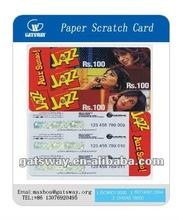 most popular paper scratch card