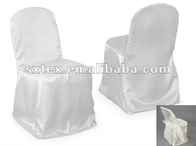 Plain Dyed Satin Folding Chair Cover For Hotel/Banquet/Wedding