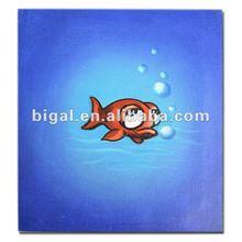 high gloss printed cartoon fish painting