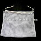 white drawstring mesh washing bag