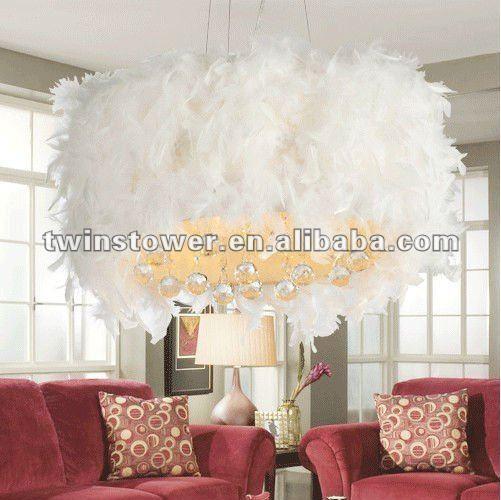 plume blanche lustre lustre id du produit 580542359 french. Black Bedroom Furniture Sets. Home Design Ideas