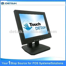 """Resistive Touch Screen 12.1"""" LCD Monitor with DVI Interface; USB Touchscreen Monitor"""
