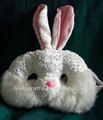 fuzzy 201584121 branco de pelúcia de coelho de páscoa máscara de olho para a criança