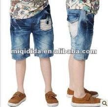 2012 Latest Design! Baby boys short jeans blue color children's pants, fashion boys short jeans summer shorts