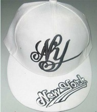 embroidery on front and visor custom snapback cap