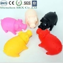plastic shrilling pig toys for children 2012