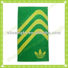 factory direct 100%cotton printed beach brand sports towel