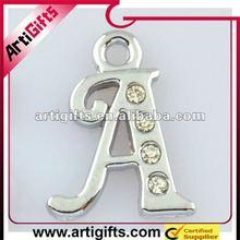 metal initial letter pendant