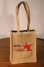 recycled promotion jute bag,grocery jute tote , natural jute bag
