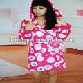 Las mujeres 100% de poliéster polar de coral pijama/bata de baño