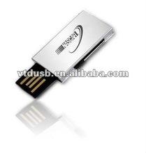 OEM Nice elegant metal usb flash drive, retractable mini usb flash drive, revolve usb drives