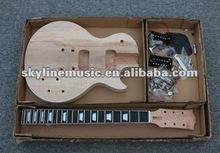 GK-LP400 SPALTED MAPLE LP STYLE DIY ELECTRIC GUITAR LUTHIER BUILDER KIT