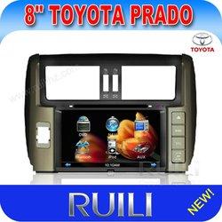 Toyota prado 2011(new) car dvd gps/car audio/car video with TV Bluetooth Radio touch screen high resolution