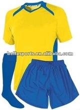 Round neck 2012 custom soccer uniform sets