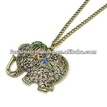 Animal shaped colorful jewlery, elephant necklace