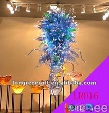 Bright Colour Chandelier Hotel Glassware