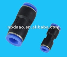 small size black plastic straight pneumatic air connector