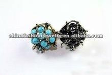 Wholesale Fashion Folk Style Big Turquoise Rings