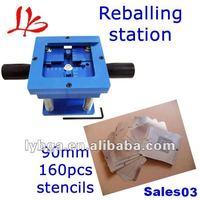Free shipping bga accessories, 100% original, bga reballing kit with reballing station and 160 pcs bga stencils