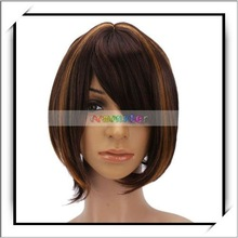 Wholesale! Fashion Light Brown with Yellow Short Wig For Women -S00636