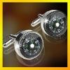 fashion compass cufflink, silve & brass & alloy cufflink supplier, paypal accepted