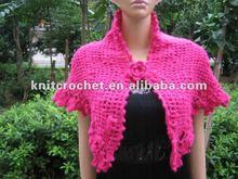100 % Hand Crocheted Shawl For Ladies, 2012 Spring Fashion Design (KCC-PJ001)