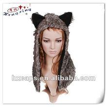2012 new fashion custom animal hat earmuff scarf gloves hat