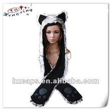 2012 new fashion custom animal scarf hat with pocket