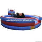 cheap inflatable mechanical bull for adult and kids/infltable games equipment on sale