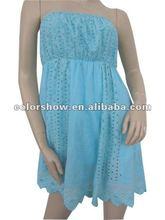Cotton Blue Pierced Women Dressed