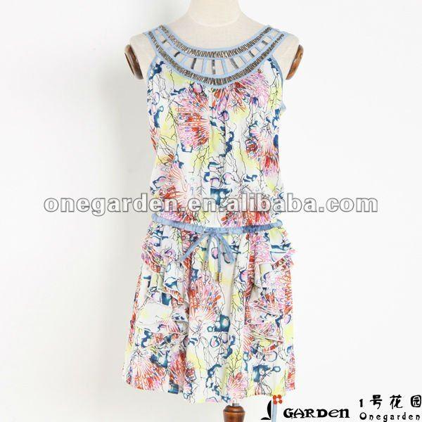 Nouveau modèle robe 2013 de 2013 d'été de collection filles de mode